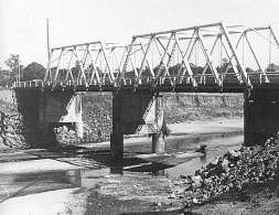 Former Cashs Crossing Bridge, opened 1934.