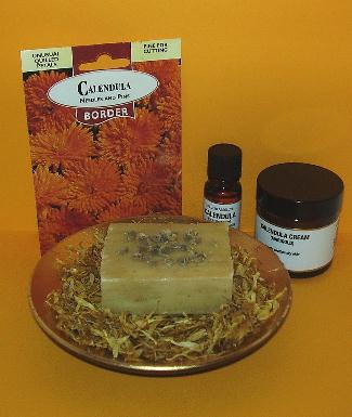 various calendula products