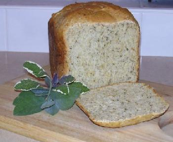 Sage-and-onion bread - sliced